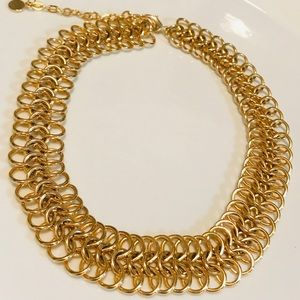 Gold Braided Necklace NWOT